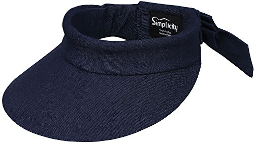 Simplicity Women's SPF 50+ UV Protection Wide Brim - Wide Brim Sun Visor