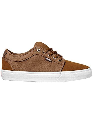 Vans Skate Zapato Hombres Furgonetas Chukka Bajo Zapatillas de Skate, (Herringbone Twill) Tobac, 5,5 (herringbone twill) tobac