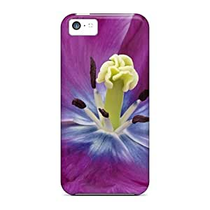 Defender Case With Nice Appearance (glorious Purple) For Iphone 5c