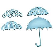 Spellbinders In-035 Shapeabilities Die Template, Umbrella Trio