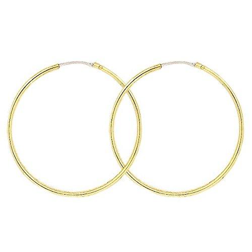 So Chic Bijoux © Boucles d'oreilles Femme Créoles Diamètre 30 mm Fil Rond 1,6 mm Or Jaune 750/000 (18 carats)