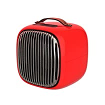 Portable Mini Smart Space Heater Home Winter Electric Air Warmer Fan,Red