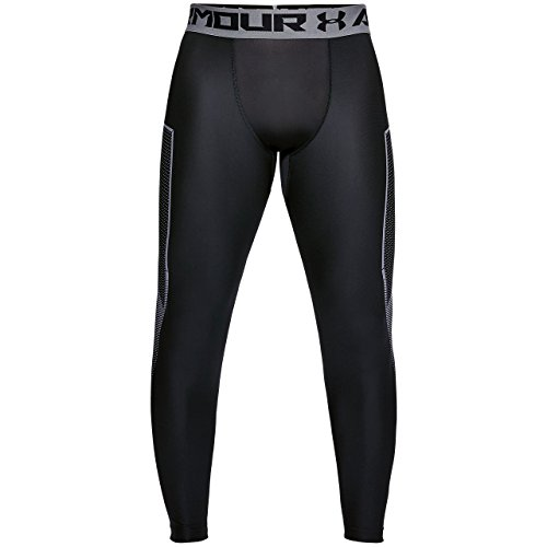 Under Armour Men's HeatGear Armour Leggings Graphic, Black (001)/Graphite, -