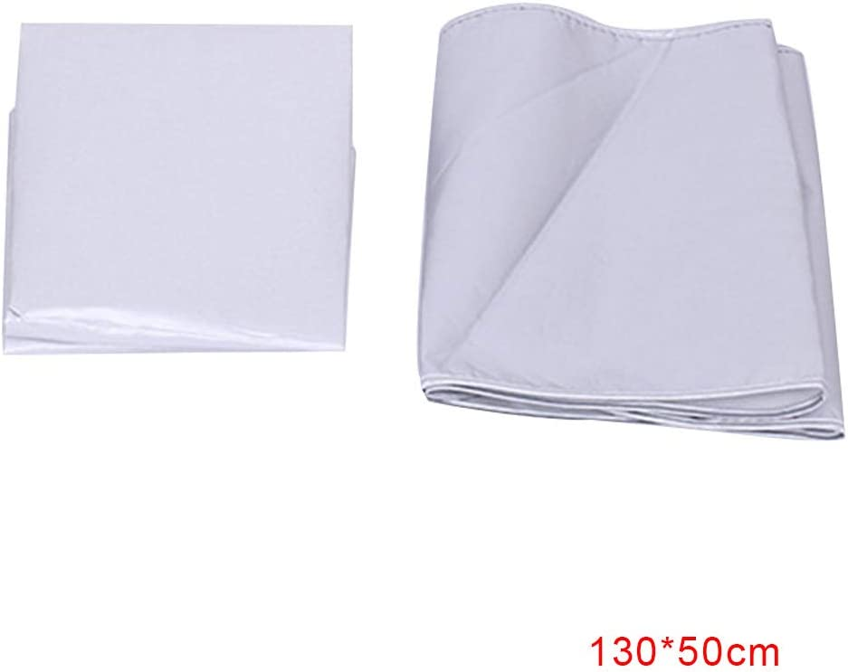 Flushzing Silver Coated Padded Ironing Board Cover Universal Heat Reflective Drawstring Scorch Stain Resistant Boards Protector 130*50cm