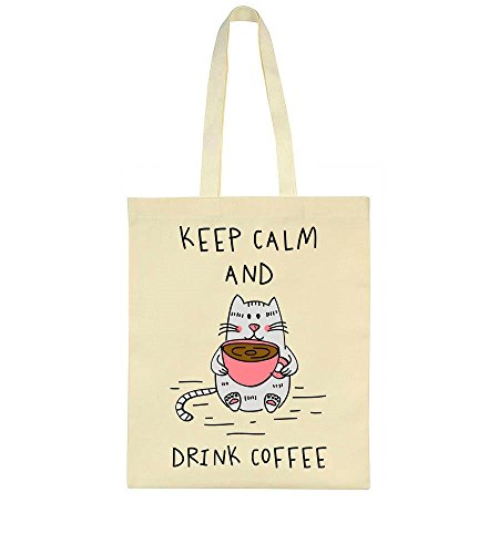 Bag Keep And Cup Calm Cat Coffee Of Tote With Drink ppgrRwxq