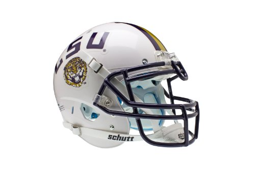 NCAA LSU Tigers Authentic XP Football Helmet, White by Schutt
