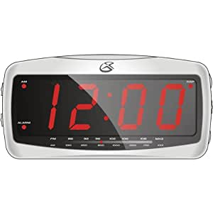 GPX CR-2307 Reloj Analógica Negro - Radio (Reloj, Analógica, AM, FM, LED, Rojo, 9v)
