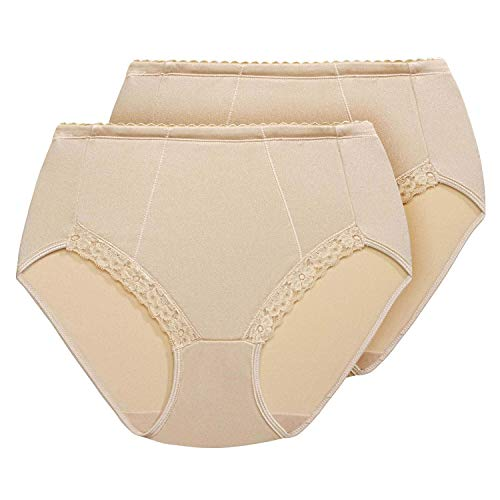 Exquisite Form 2-Pack Control Lace Shaping Panties - Brief Lace Shaping