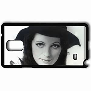 Personalized Samsung Note 4 Cell phone Case/Cover Skin Anna Jantar Face Hat Hair Light Black