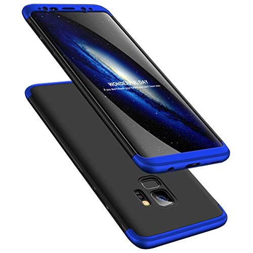 Galaxy S9 Case, ATRAING 3 in 1 Ultra-Thin PC Hard Case Cover for Samsung Galaxy S9 (Blue+Black+Blue)