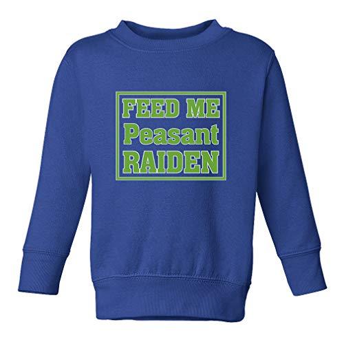 Feed Me Peasant Raiden Long Sleeve Taped Neck Toddler Boys-Girls Cotton/Polyester Cute Sweatshirt - Royal Blue, 4T