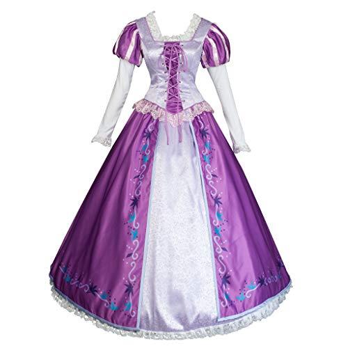 CosFantasy Princess Rapunzel Cosplay Purple Printed Dress Ball Gown mp004097 (Women L) ()