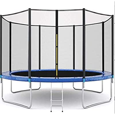 JRSOKO Kids Adults Trampoline with Enclosure Net, 12FT High Elasticity Trampoline with Safety Enclosure - Indoor or Outdoor Trampoline for Kids, Durable Stand Net Go Outside The Poles : Sports & Outdoors