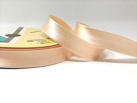 Champagne Byetsa Satin Fold 30mm Bias Tape on a 25m Roll