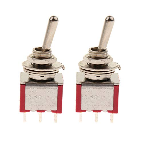 B Blesiya 2 Pcs of Pack Electric Guitar Toggle Switch for Circuit Wiring Harness - 2 Way