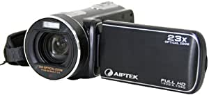 Aiptek EHD21X 1080p HD Camcorder with 23X Optical Zoom, 3-inch LCD Screen, Black