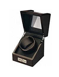 Ebony Wood Single Watch Winder w/ Display Top