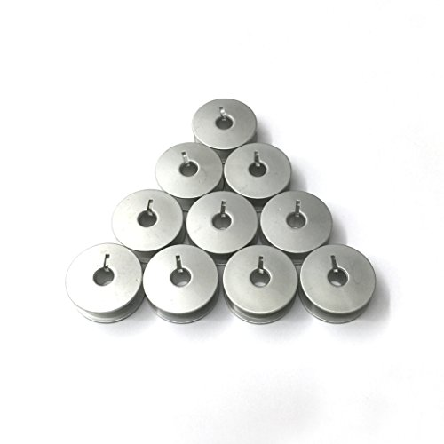 """Cutex Brand 10 Aluminum Slotted """"M"""" Bobbins for Tin Lizzie Ansley Gammill Quilting Machine"""