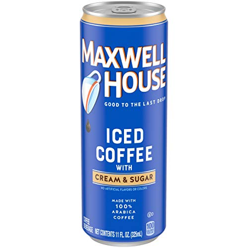 Maxwell House Cream & Sugar Iced Coffee, 11 Fl oz Can (Pack of 12)