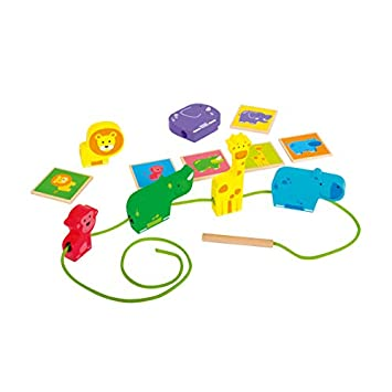 Beleduc Animal Line Threading Game for 3+ Year Kids (Multi-Colour)