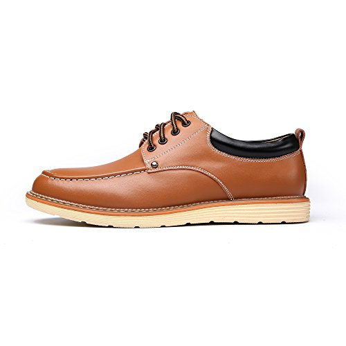Classic Flat Fashion Shoes Leather PU Work Leather Business Casual Men's Brown Shoes Oxfords 5CqxxFwg