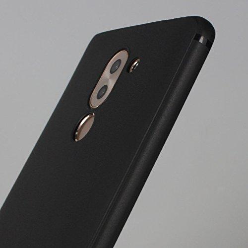 Cover para Huawei Honor 6X 5.5 , WenJie Unicornio triste Negro Accesorios Regalo TPU Regalo elegante y duradero suave Silicona Suave Funda Case Tapa Caso Parachoques Carcasa Cubierta para Huawei Hono WM139