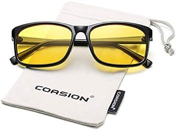 Coasion Blue Light Blocking Yellow Retro Anti Blue Ray Women's Glasses