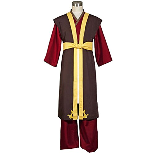Cuterole Men Anime Zuko Cosplay Costume from Avatar The Last Airbender (Airbender Cosplay Costume)
