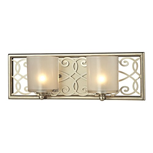 Elk Lighting 31427/2 Santa Monica Collection 2 Bath Light, Aged - Fabric Santa Monica
