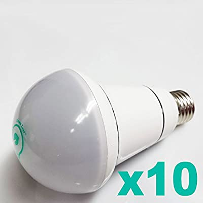 "PACK OF 10 - ""GREEN LEAF"" 12 Watt LED Indoor Recessed/Flood Light Bulb (100 Watt Incandescent Bulb Replacement), 1100 Lumens, Cool White Daylight (6500K)"