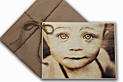 """Personalized Picture on Wood, Pyrography picture, Custom Wood Photo, Photo on Wood, Wood Wall Art, Rustic Home Decor, Wood Burned Picture, Customized Wood Print (8.3"""" x 11"""" Inches (210 x 280 mm))"""