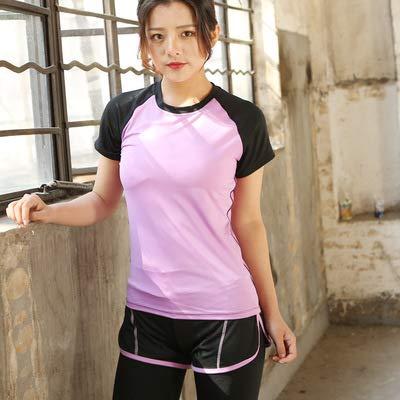 SGYHPL Frauen Fitness Training Sport Weste Laufbekleidung Yoga Kurzarm Gym Top T-Shirt Sport Tops Gym Frauen