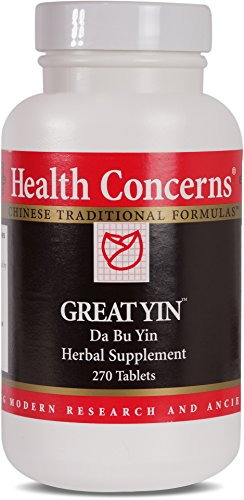Health Concerns – Great Yin – Da Bu Yin Herbal Supplement – 270 Tablets