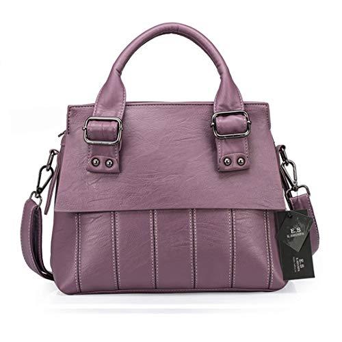 De Haute Cuir en Sac pour Main Qualité Femme à Purple Rayé PnAXq