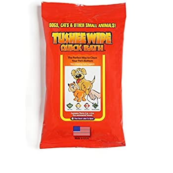 International Veterinary Sciences Tushee Wipes for Both Cat & Dogs 30 ct