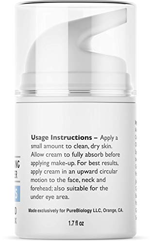 41HQ%2BA2Q2GL - Pure Biology Retinol Moisturizer Cream with Hyaluronic Acid, Vitamins B5, E & Breakthrough Anti Aging, Anti Wrinkle Complex - Face & Eye Skin Care for Men & Women, All Skin Types, 1.7 OZ