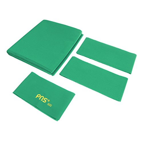 Worsted Standard Green Pool Table - Dovewill PNS900 Standard 9ft Table Billiard Cloth Pool Table Felt Wool and Nylon - Full Bed Cloth & Cushion Strips - Green
