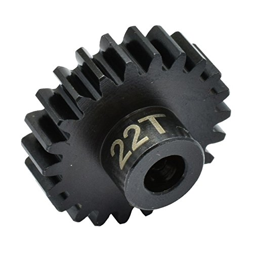 Hot Racing NSG22M1 22t Steel Mod 1 Pinion Gear 5mm