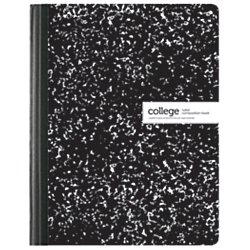 Office Depot(R) Brand Schoolio Marble Composition Book, 9 3/4in. x 7 1/2in., College Ruled, 80 Pages (40 Sheets), Black/White