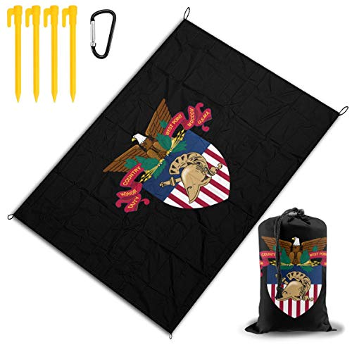Laaunrye West Point Military Academy West Point Academy Logo Soft Camping Beach Blanket 78''x 57'' Picnic Mat Pocket -