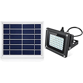 Solar Flood Light Outdoor,JPLSK 54Leds 400Lumen IP65 Waterproof Outdoor Flood Light Fixture for Doorway,Porch,Sign,Grill,Auto-on/Off