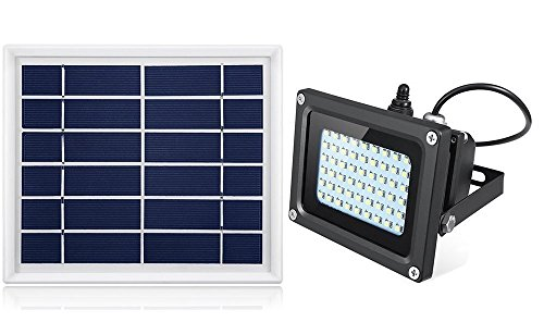 Solar Flood Light Outdoor,JPLSK 54Leds 400Lumen IP65 Waterproof Outdoor Flood Light Fixture for Doorway,Porch,Sign,Grill,Auto-on/Off Dusk to Dawn