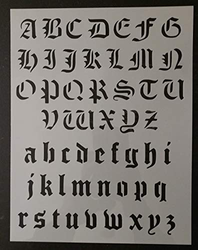 OutletBestSelling Reusable Sturdy Old Olde English Alphabet Custom Stencil 8.5