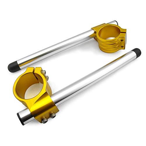 - Newsmarts 50mm Fork Clip-ons Handle Bars Motorcycle Regular Handlebar for Honda, Suzuki, Kawasaki, Yamaha, Aprilia
