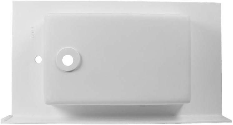 Porcelanosa Lavabo Rectangular De Resina Blanco Acabado Brillo Dimensiones : 101 x 56,5 x 21,5 cm Derecha