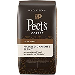 Peet's Whole Bean Coffee, Major Dickason's Blend, Dark Roast 12-Ounce