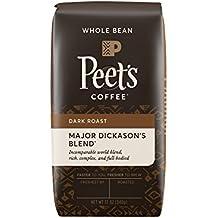 Peet's Coffee, Major Dickason's Blend, Dark Roast, Whole Bean Coffee, 12 oz. Bag, Rich, Smooth, and Complex Dark Roast Coffee Blend, with a Full Bodied and Layered Flavor