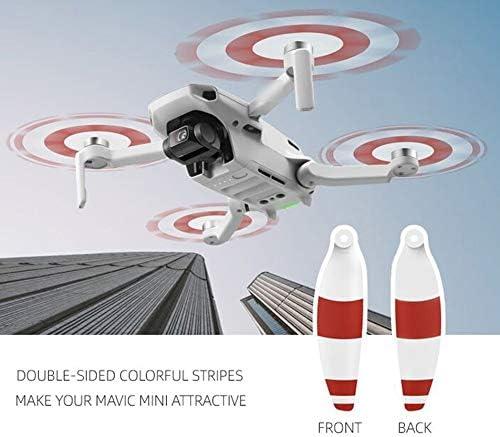 Silverdewi Pale elicoidali Colorate per elica Express per DJI Mavic Mini 4726F Set eliche a Basso Rumore per Accessori Mini Drone Mavic