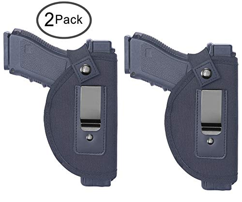 Tenako 2 Pack Universal IWB Holster Inside Waistband Fits All Firearms S&W M&P Shield 9/40 1911 Taurus PT111 G2 Sig Sauer Glock 17 19 26 27 42 43 Springfield XD XDS