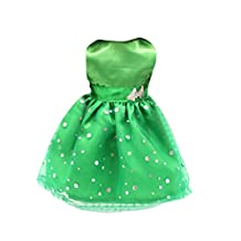 Fashion Green Sleeveless Party Gown Prom Dress Clothing for 18 Inch AG American Girl Our Generation Journey Dolls